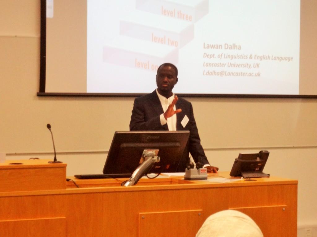 Presenting at Lancaster Postgraduate Conference in Linguistics, UK