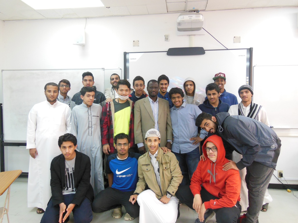 A group photo with my students at Yanbu English Language Institute, Saudi Arabia
